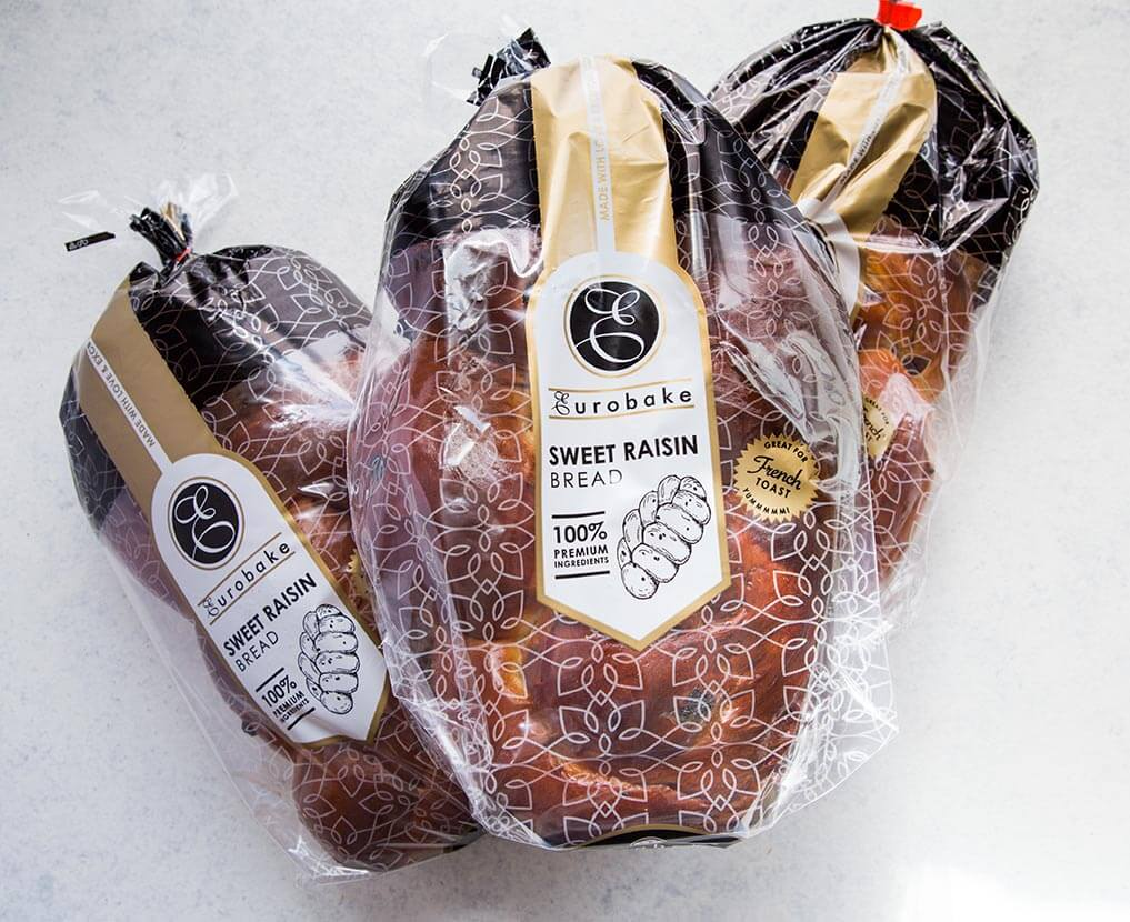 Eurobake Raisin Bread packaging