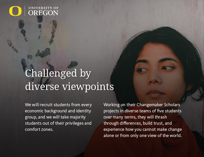 University of Oregon Changemaker Scholars Program Presentation