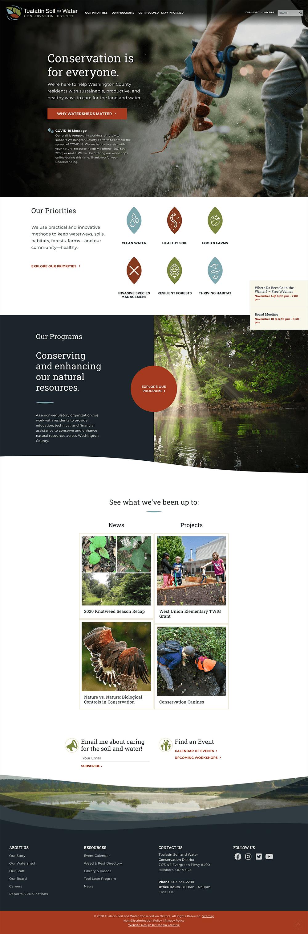 TSWCD Website Homepage
